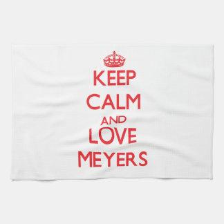 Guarde la calma y ame a Meyers Toallas