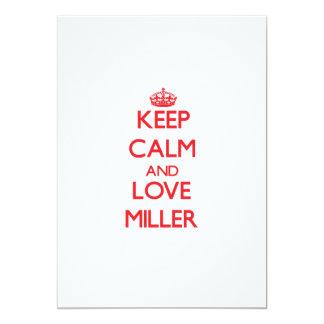 Guarde la calma y ame a Miller Invitaciones Personalizada