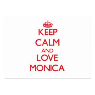 Guarde la calma y ame a Mónica Tarjetas De Visita