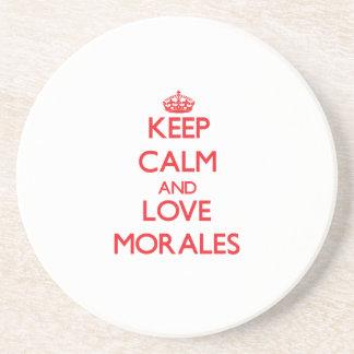 Guarde la calma y ame a Morales Posavasos Diseño