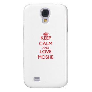 Guarde la calma y ame a Moshe Funda Para Galaxy S4