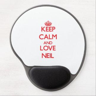 Guarde la calma y ame a Neil Alfombrilla Gel