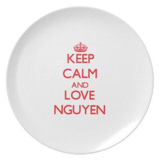 Guarde la calma y ame a Nguyen Platos De Comidas