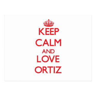 Guarde la calma y ame a Ortiz Postal