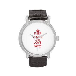 Guarde la calma y ame a Pato Reloj