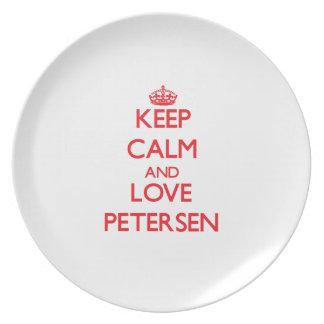 Guarde la calma y ame a Petersen Platos Para Fiestas