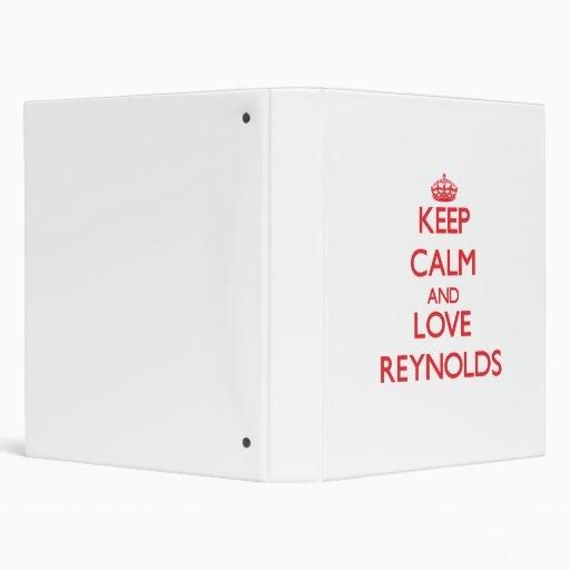 """Guarde la calma y ame a Reynolds Carpeta 1"""""""