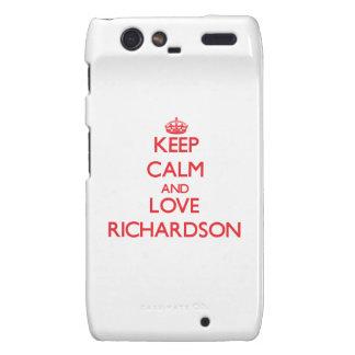 Guarde la calma y ame a Richardson Motorola Droid RAZR Carcasa