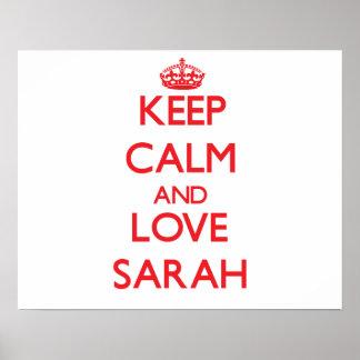 Guarde la calma y ame a Sarah Impresiones