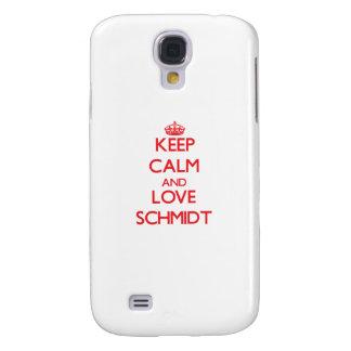 Guarde la calma y ame a Schmidt Funda Para Galaxy S4