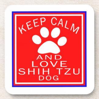 Guarde la calma y ame a Shih Tzu Posavaso
