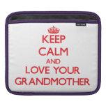 Guarde la calma y ame a su abuela manga de iPad