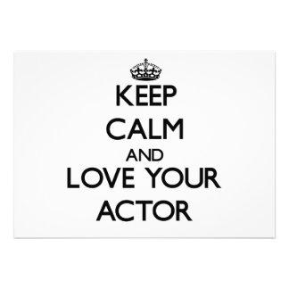 Guarde la calma y ame a su actor anuncios personalizados