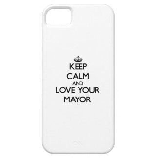 Guarde la calma y ame a su alcalde iPhone 5 cárcasas