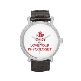 Guarde la calma y ame a su algólogo relojes de mano