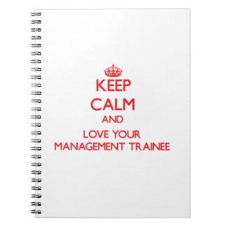 Guarde la calma y ame a su aprendiz de la gestión cuadernos