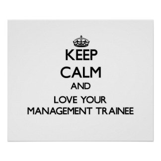 Guarde la calma y ame a su aprendiz de la gestión posters