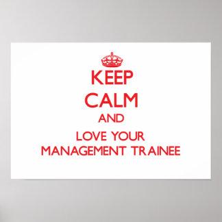 Guarde la calma y ame a su aprendiz de la gestión impresiones