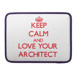 Guarde la calma y ame a su arquitecto