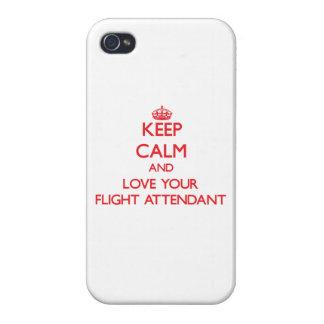 Guarde la calma y ame a su asistente de vuelo