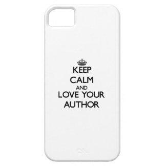 Guarde la calma y ame a su autor iPhone 5 carcasas