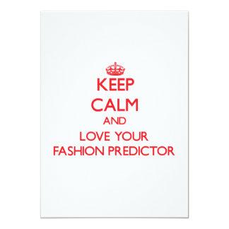 Guarde la calma y ame a su calculador de la moda comunicados personales
