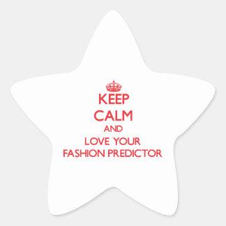 Guarde la calma y ame a su calculador de la moda calcomanías forma de estrellaes