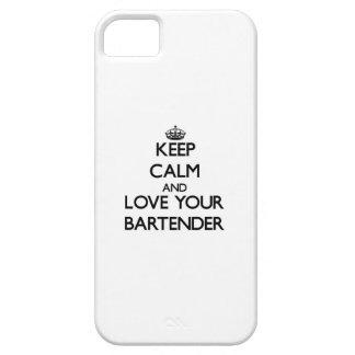 Guarde la calma y ame a su camarero iPhone 5 fundas