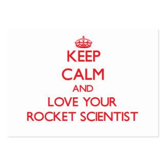 Guarde la calma y ame a su científico de Rocket Plantilla De Tarjeta Personal