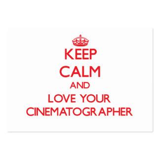 Guarde la calma y ame a su cinematógrafo tarjeta de visita