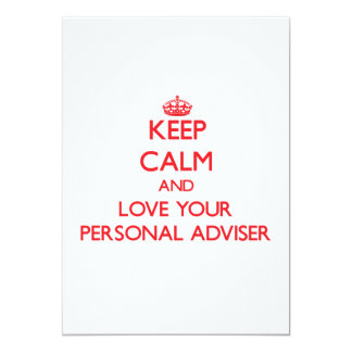 Guarde la calma y ame a su consejero personal invitación 12,7 x 17,8 cm