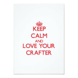 Guarde la calma y ame a su Crafter Invitación 12,7 X 17,8 Cm