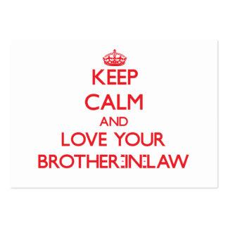 Guarde la calma y ame a su cuñado