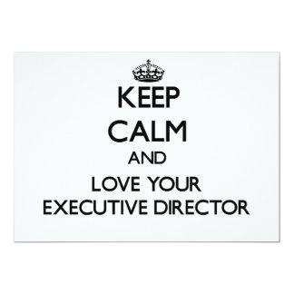 Guarde la calma y ame a su director ejecutivo anuncio personalizado