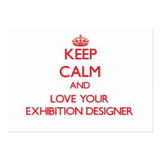 Guarde la calma y ame a su diseñador de la exposic tarjeta de visita