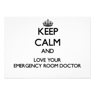 Guarde la calma y ame a su doctor de la sala de ur anuncios personalizados