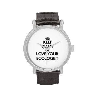 Guarde la calma y ame a su ecologista reloj