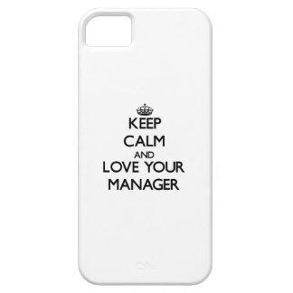 Guarde la calma y ame a su encargado iPhone 5 fundas
