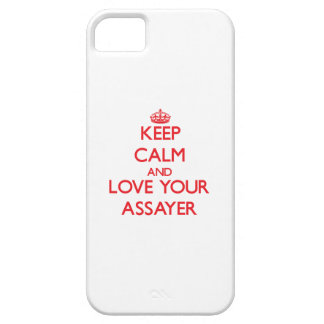 Guarde la calma y ame a su ensayador iPhone 5 Case-Mate protector