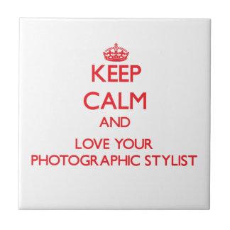 Guarde la calma y ame a su estilista fotográfico azulejos cerámicos