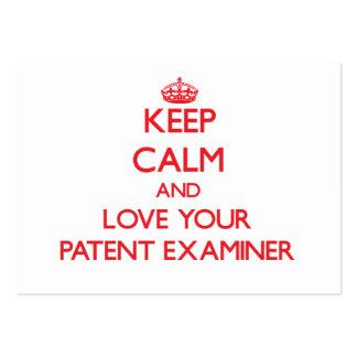 Guarde la calma y ame a su examinador de la patent plantillas de tarjeta de negocio