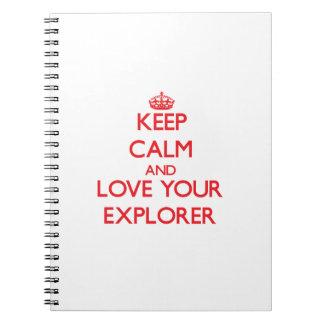 Guarde la calma y ame a su explorador