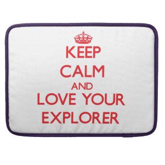 Guarde la calma y ame a su explorador fundas macbook pro