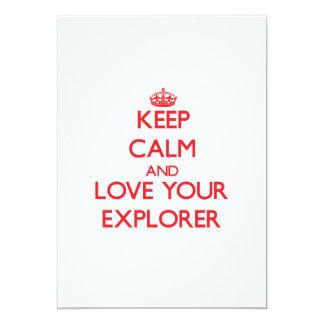 Guarde la calma y ame a su explorador comunicados personalizados