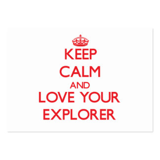 Guarde la calma y ame a su explorador tarjeta de visita