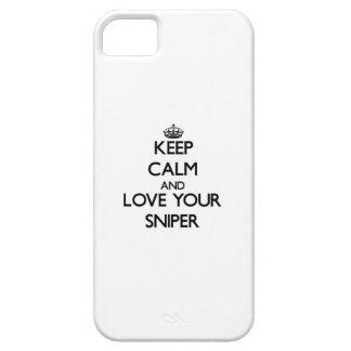 Guarde la calma y ame a su francotirador iPhone 5 Case-Mate cobertura