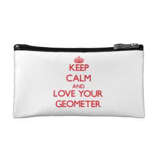 Guarde la calma y ame a su geómetra