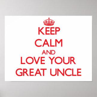 Guarde la calma y ame a su gran tío impresiones