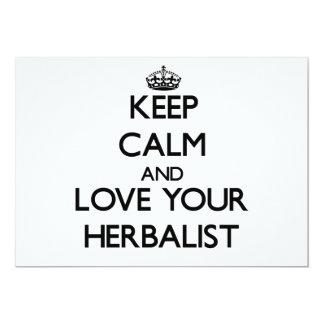 Guarde la calma y ame a su Herbalist Comunicado Personal