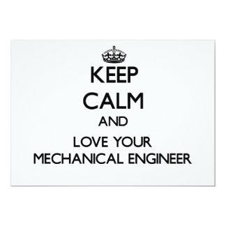 Guarde la calma y ame a su ingeniero industrial invitaciones personalizada